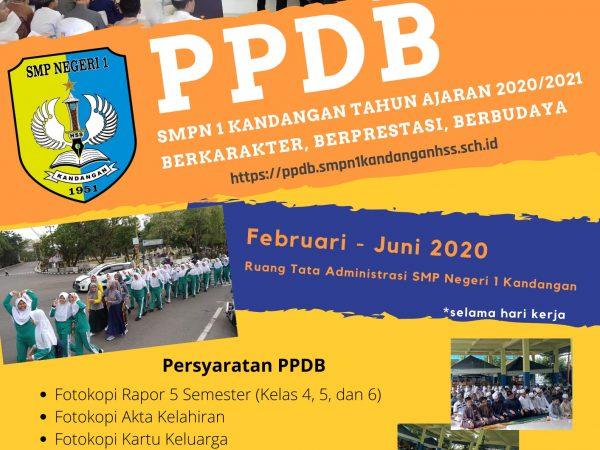 Penerimaan Peserta Didik Baru (PPDB) SMP Negeri 1 Kandangan Tahun Ajaran 2020/2021