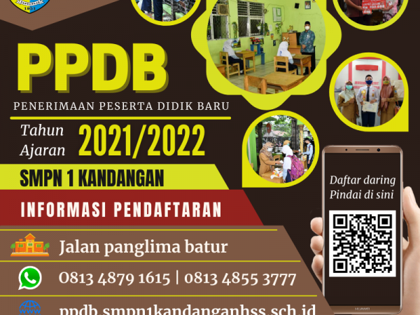 Penerimaan Peserta Didik Baru (PPDB) SMP Negeri 1 Kandangan Tahun Ajaran 2021/2022